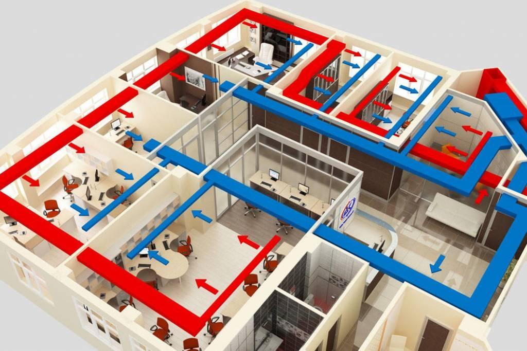 Монтаж-вентиляции-в-офисе